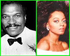 Billy Dee Williams and Diana Ross
