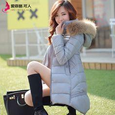 淘宝热销,修身中长款大毛领连帽外套 -易买中国,一家专做免费代购的网站.