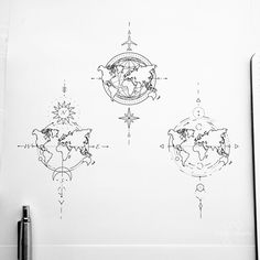 Tattoo artist fedor nozdrin on available designs geometrictattoo geometrictattoodesign worldmap worldmaptattoo travelingtattoo tinylines tinytattoo tattoodrawings kocaeli Mini Tattoos, Body Art Tattoos, Tattoo Drawings, Small Tattoos, Tatoos, Sleeve Tattoos, Geometric Tattoo Design, Geometric Tattoos, Geometric Tattoo Travel