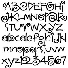 Discover recipes, home ideas, style inspiration and other ideas to try. Cute Fonts Alphabet, Handwriting Alphabet, Hand Lettering Alphabet, Doodle Lettering, Creative Lettering, Calligraphy Alphabet, Lettering Styles, Calligraphy Fonts, Script Fonts