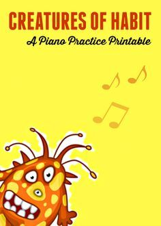 A free printable that will help your students to create good piano practice habits. #piano #lessons