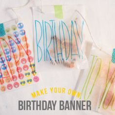DIY Birthday Card Banner – Skip That Expensive Store Card