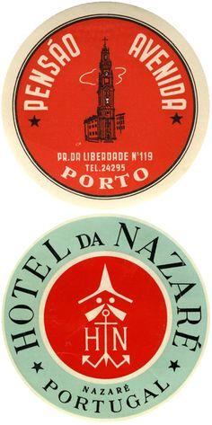 Portuguese luggage labels.