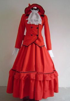 Lifecos Black Butler Madame Rouge Cosplay Costume-made ** Continue to the product at the image link.
