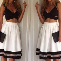 Fashion white stitching lac..