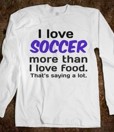 """Hmm I think it should be """"my love for food increases as the amount of soccer I play increases"""" haha!"""