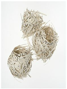 Jessica O'Hearn makes sculpture from found objects, vellum, corrugated cardboard and paper. They are understated but really lovely.
