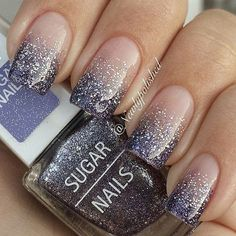 Nude & Glitter Wedding Nails for Brides / http://www.himisspuff.com/wedding-nail-art-desgins/4/ #NailArtForWeddings