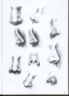 Realistic Portrait Drawing Tutorial How to shade and draw realistic eyes Drawing Heads, Nose Drawing, Painting & Drawing, Drawing Faces, Drawing Portraits, How To Draw Portraits, Drawing Step, Figure Drawing, Pencil Art Drawings