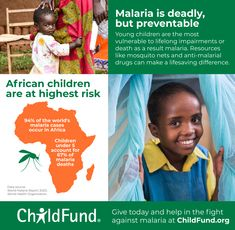 While the whole world has been busy fighting COVID-19, malaria has been having a field day, killing hundreds of thousands of children in 2019 alone. Give now to help us provide mosquito nets and medical supplies that save lives. African Children, Mosquito Net, Field Day, Helping Children, High Risk, Save Life, Vulnerability, Drugs, Thankful