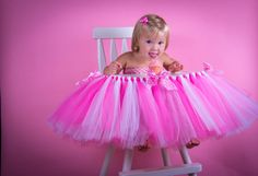 High Chair Tutu  Great For 1st Birthday by GigglesandWiggles1