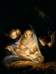 Die Heilige Nacht CARLO MARATTA (o Carlo Maratti) (Camerano, 15 maggio 1625 – Roma, 15 dicembre 1713) #TuscanyAgriturismoGiratola