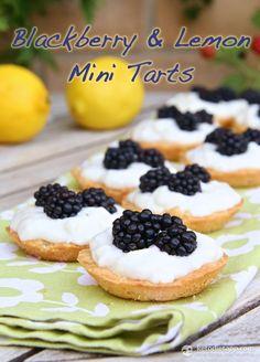The KetoDiet Blog | Blackberry & Lemon Mini Tarts (Low-carb, Paleo)
