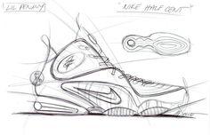 Inside The Designer's Studio // Nike Sportwear's Marc Dolce (Part Sneakers Sketch, Shoe Sketches, Industrial Design Sketch, Shoe Pattern, Sketch Inspiration, Shoe Art, Designer Boots, Design Research, Cool Designs