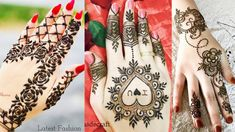 Valentine's Day Special Heart Mehndi Design For Hands Simple Mehndi Designs, Mehndi Designs For Hands, Mehandi Designs, Valentine Day Special, Valentines Day, Hand Henna, Hand Tattoos, Valentino, Heart