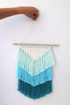 DIY weaving- How to make a tassel wall hanging - Easy weaving