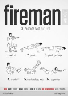 100 Workouts That Don't Require Equipment By Neila Rey. Keep your body fit everywhere. 100 Workouts That Don't Require Equipment By Neila Rey. Keep your body fit everywhere. Neila Rey Workout, 100 Workout, Jedi Workout, Firefighter Workout, Firefighter Training, Fitness Gym, Fitness Motivation, Fitness Workouts, Bodybuilder