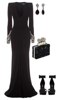 """""""Senza titolo #3685"""" by marcellamic ❤ liked on Polyvore featuring Alexander McQueen, Yves Saint Laurent and Chaps"""