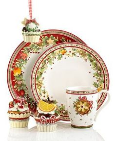 57 beautiful christmas dinnerware sets - Christmas China Sets