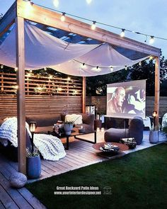 Unique Patio Ideas For Backyards Or Other Outdoor Areas Do you plan to create a patio in your garden or your own outdoor space? Would you like us to show you what you can do with a limited budget? If your answer is yes, we are waiting f Backyard Patio Designs, Pergola Designs, Pergola Patio, Wood Patio, Patio Stone, Patio Privacy, Flagstone Patio, Concrete Patio, Patio Table