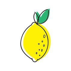 Fresh Lemon Temporary Tattoo Summer Yellow by TattooWhatever