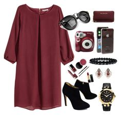 """""""Adriana"""" by apcquintela ❤ liked on Polyvore featuring H&M, Giuseppe Zanotti, Polaroid, Forever 21, MICHAEL Michael Kors, Kate Spade and Versace"""