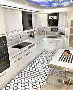 Mutlu haftasonları tesekkürler A. Kitchen Room Design, Modern Kitchen Design, Kitchen Colors, Interior Design Kitchen, Kitchen Decor, Küchen Design, Decor Interior Design, House Design, Grey Kitchens