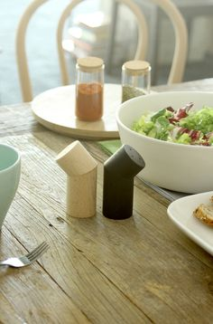 Branches salt + pepper shakers by La Mamba