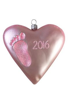 Nordstrom at Home Nordstrom at Home '2016 - Baby's First' Handblown Glass Heart Ornament available at #Nordstrom