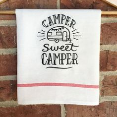 Camper Dishes Camp Kitchen Dish Towel RV by MakingSomethingHappy....  Check out even more by clicking the photo link