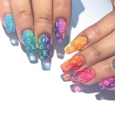 What manicure for what kind of nails? - My Nails Summer Acrylic Nails, Best Acrylic Nails, Pastel Nails, Summer Nails, Disney Acrylic Nails, Aycrlic Nails, Swag Nails, Manicure, Coffin Nails