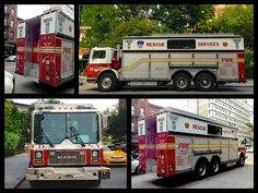 FDNY Mack Rescue Services spare taken across the street from the shop.