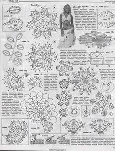 lace crochet fashion in crochet magazine Filet Crochet, Crochet Motifs, Crochet Diagram, Freeform Crochet, Crochet Chart, Thread Crochet, Crochet Doilies, Crochet Flowers, Crochet Lace