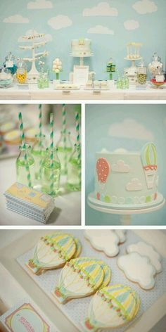 Beautiful Up in the Sky baby shower theme, perfect for boy or girl