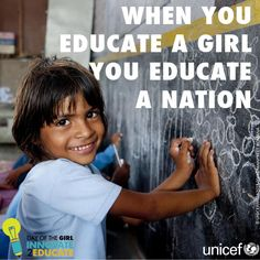 When girls get the education they deserve, they can contribute to the wellbeing of their communities in amazing ways.  Learn about all the benefits of educating girls here: http://uni.cf/girl2013stories