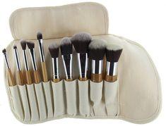 Amazon.com : ETA Ultra Natural Goat Hair Premium Makeup Brush Set (10 pcs, Bamboo) : Makeup Brush Set Mac : Beauty