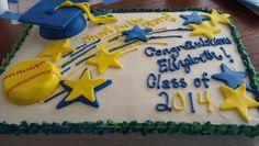 Softball graduation cake!
