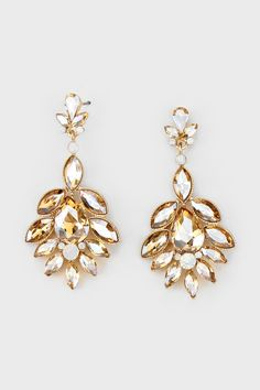 Crystal Madeline Earrings in Colorado Topaz | Women's Clothes, Casual Dresses, Fashion Earrings & Accessories | Emma Stine Limited