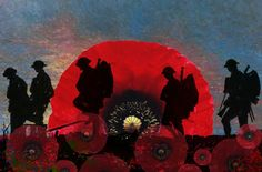 "November 11 is Remembrance (Armistice) Day. ""In Flanders fields the poppies blow Between the crosses, row on row, That mark our place; and in the sky The larks, still bravely singing, fly Scarce heard amid the guns below. Remembrance Day Posters, Remembrance Day Pictures, Remembrance Day Activities, Remembrance Day Poppy, Canada Pictures, Soldier Silhouette, Ww1 Art, Armistice Day, Tatoo"