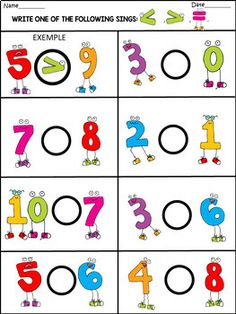 Spring - Math Fun Activities - 77 Pages - Education Preschool Learning Activities, Preschool Activities, Kindergarten Learning, Kindergarten Math Worksheets, Math For Kids, Math Centers, Black White, Color, Numicon