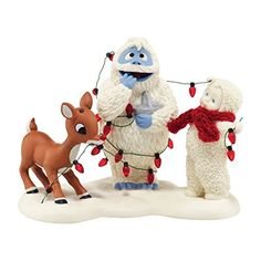 Snowbabies Department 56 Snowbabies Guest Collection Lighting Up Bumble Figurine 433Inch *** To view further for this item, visit the image link.