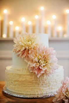 Wedding #Cake | See the wedding on SMP - http://www.stylemepretty.com/little-black-book-blog/2014/01/02/rustic-tented-historic-cedarwood-wedding/ Kristyn Hogan Photography