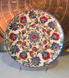 """UNIQUE TURKISH CERAMIC PLATE, 30 cm (11.8"""")"""