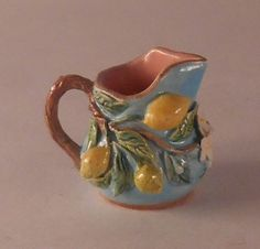 Capri Lemon Pitcher by Dominique Levy - $485.00 : Swan House Miniatures, Artisan Miniatures for Dollhouses and Roomboxes