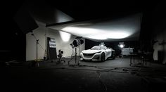 Automotive Car Photography Professional Commercial work completed for our client Peugeot for their new campaign that launched on the 1st September 2015 to launch their new concept car, The Fractal by photographer Tim Wallace ©Tim Wallace - AmbientLife