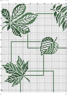 Cross Stitch Love, Cross Stitch Borders, Cross Stitch Flowers, Cross Stitch Designs, Cross Stitching, Cross Stitch Embroidery, Embroidery Patterns, Cross Stitch Patterns, Crochet Leaf Patterns