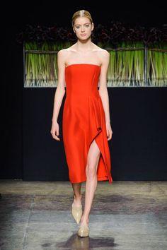 J Mendel Asymmetrical Strapless Off Shoulder Midi Dress Nude Shearling PU Mules @beglamrs