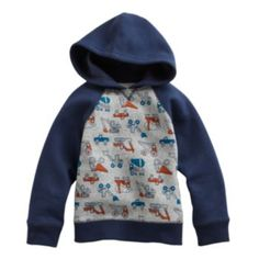 Jumping Beans Construction Hoodie - Toddler