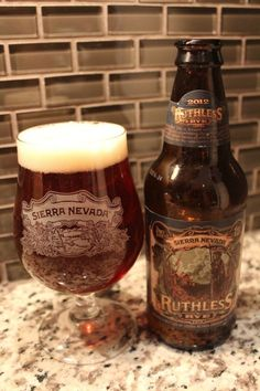 Sierra Nevada Ruthless Rye 6.6% alc. Rye Styles are typically on the weaker side of alcohol %, 6.6 aint bad and this has a good taste to go with it. As most Rye's it has a nice peppery hopp flavor to it. Doesn't disappoint. Rate 7/10
