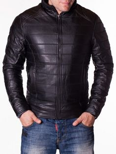 Geaca barbati MZD neagra din piele Men's Fashion, Leather Jacket, Interior Design, Jackets, Moda Masculina, Studded Leather Jacket, Nest Design, Down Jackets, Mens Fashion
